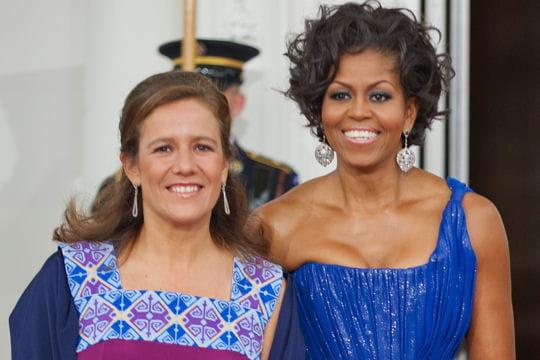 Avec Michelle Obama