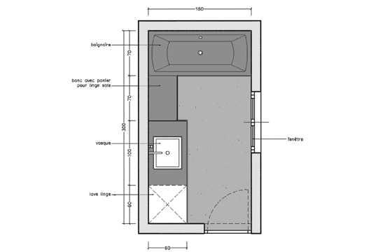 Rectangulaire - Salle de bain 6m2 ...