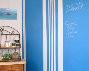 entretenir un mur recouvert de peinture ardoise
