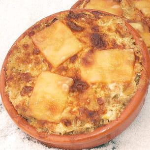 petits gratins quinoa et poireaux aux lardons