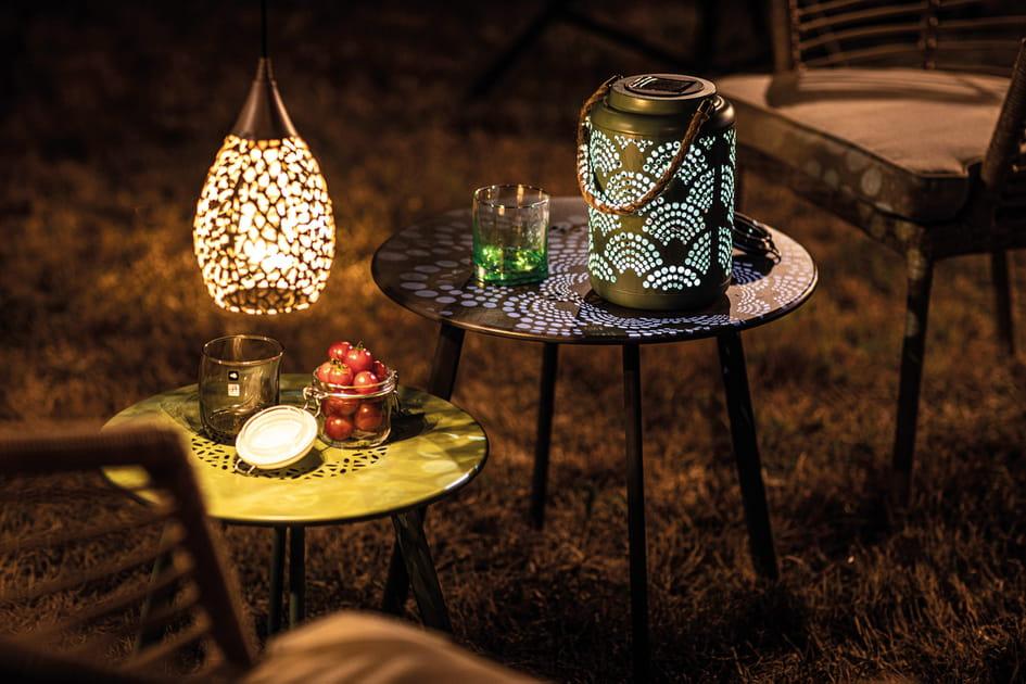 Suspension et lanterne solaire Botanic