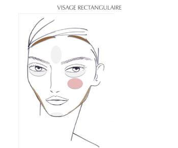 le contouring pour visage rectangulaire par patrick lorentz, senior make-up