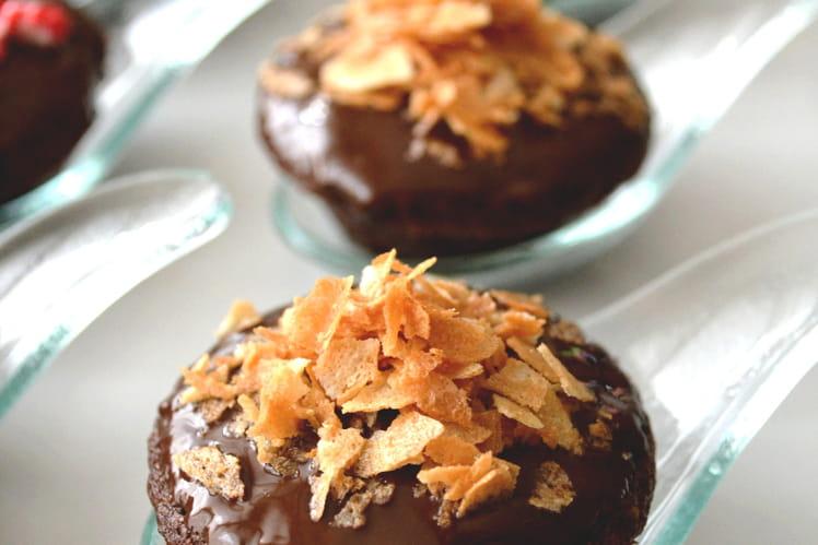 Bouchées au chocolat praliné