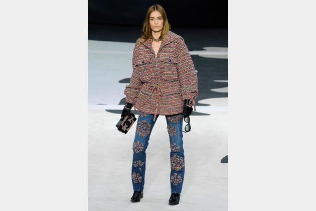 Le jean camélia du défilé prêt-à-porter automne-hiver 2013-2014