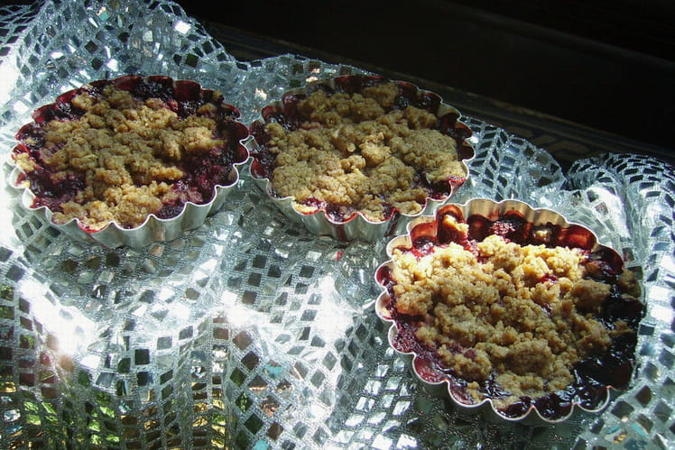 Crumbles aux fruits rouges