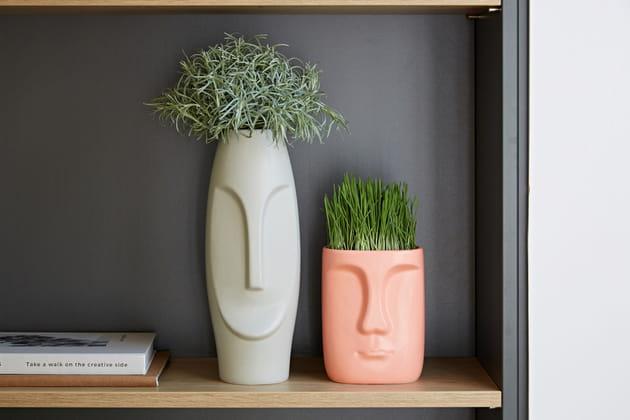 Vases visages Becquet