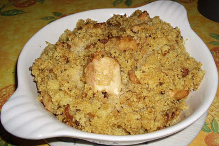 Poulet gratiné au couscous et à la coriandre