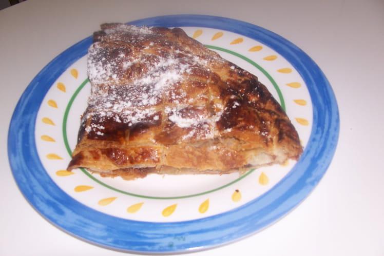 Galette aux pommes à la crème pralinée