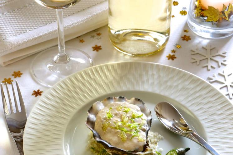Ecume d'huîtres au citron caviar