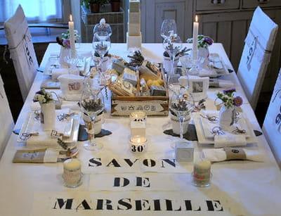 table 'coton linge et savon'