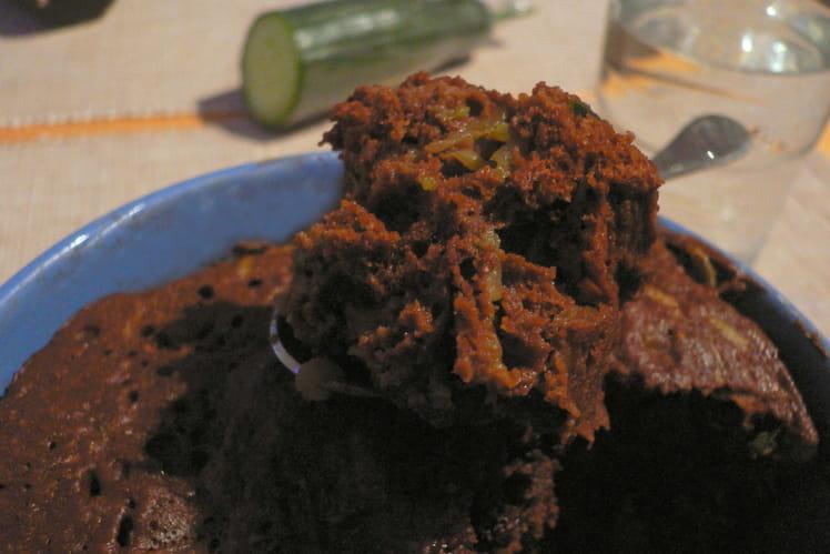 Gâteau choco-concombre au micro-ondes