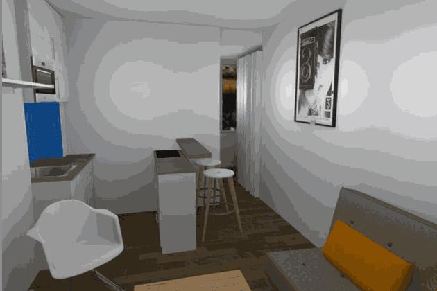 L'espace salon-cuisine de Marie-Lise Cifarelli