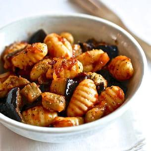 gnocchis, tomacouli® et aubergine
