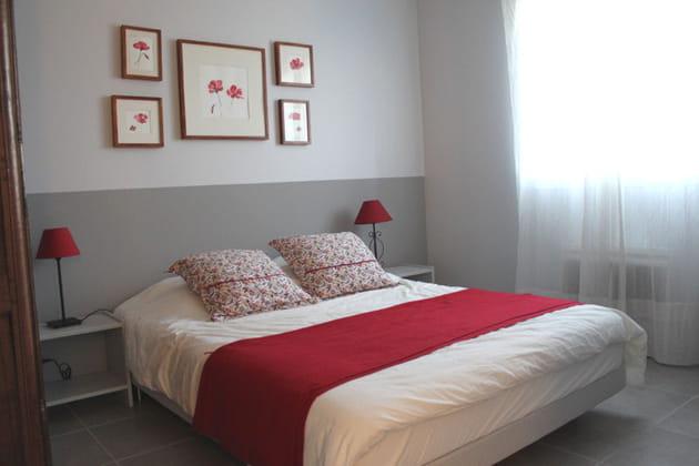 La chambre d'Isabelle, rouge coquelicot