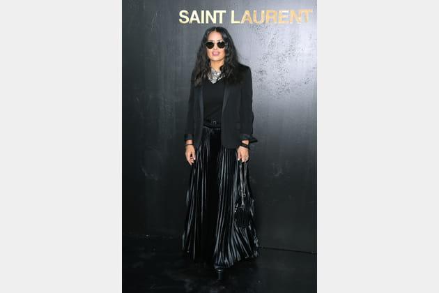 Salma Hayek au défilé Saint Laurent