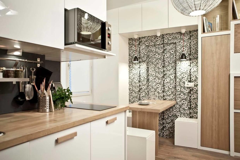 une loge de concierge devient un studio optimis. Black Bedroom Furniture Sets. Home Design Ideas