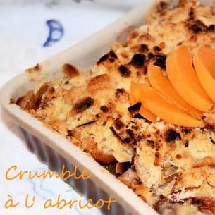 crumble à l'abricot
