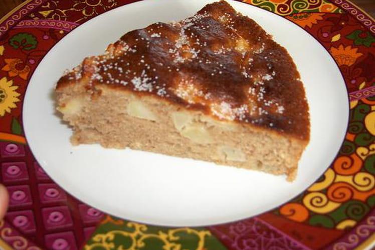Gâteau aux pommes à la farine de châtaigne