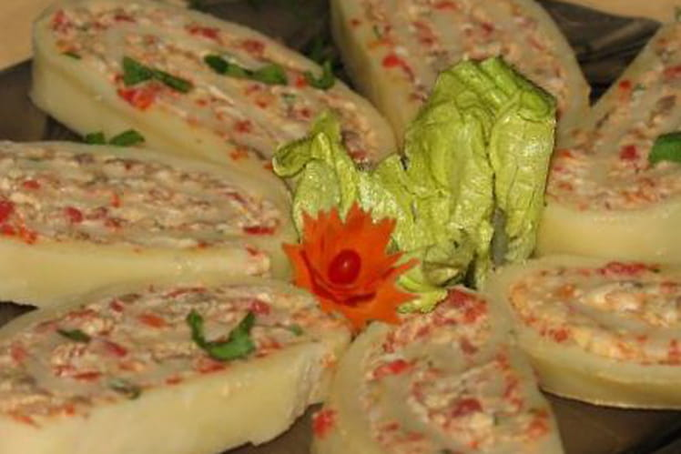 Roulés de fromage aux champignons