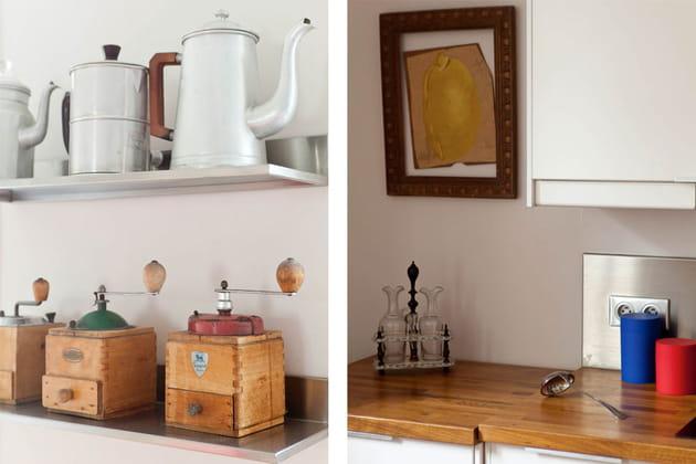 Des objets décoratifs aussi en cuisine