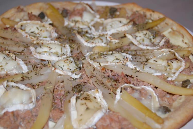 Pizza chevre-thon à ma facon