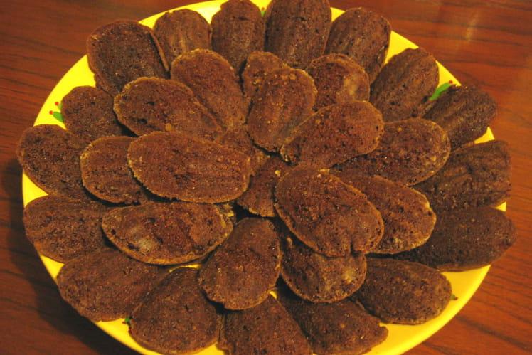 Madeleines au chocolat noir et à l'orange