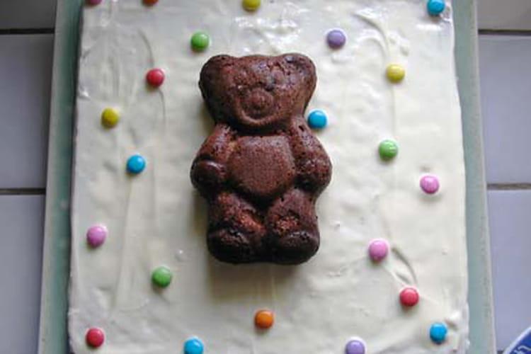 Gâteau ourson aux pépites de chocolat