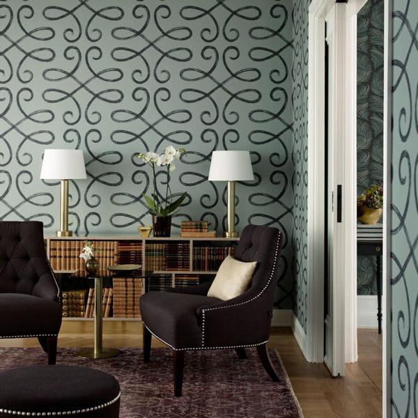 Papier motifs arabesques de sandberg - Au fil des couleurs pour des papiers peints tendance ...