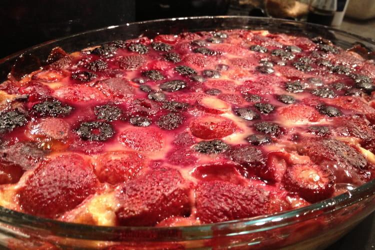 Clafoutis aux fruits rouges surgelés