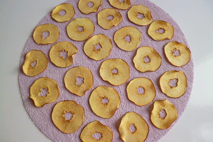 Chips de pommes crues et croustillantes
