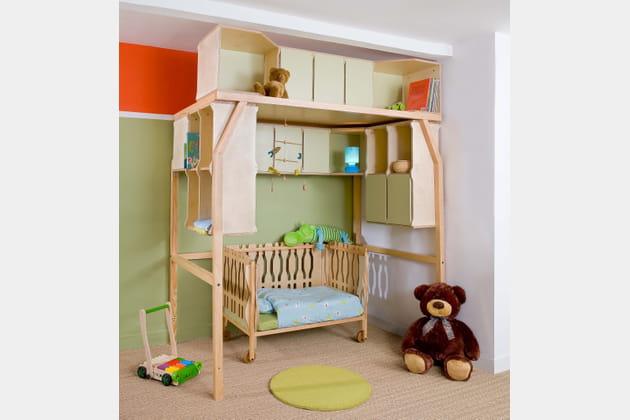 lit pop space par matali crasset pour espace loggia. Black Bedroom Furniture Sets. Home Design Ideas