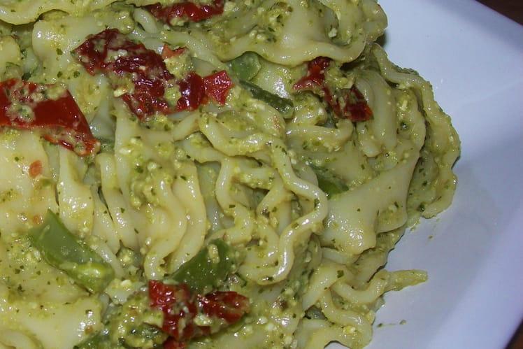Lasagnettes au pesto de haricots verts