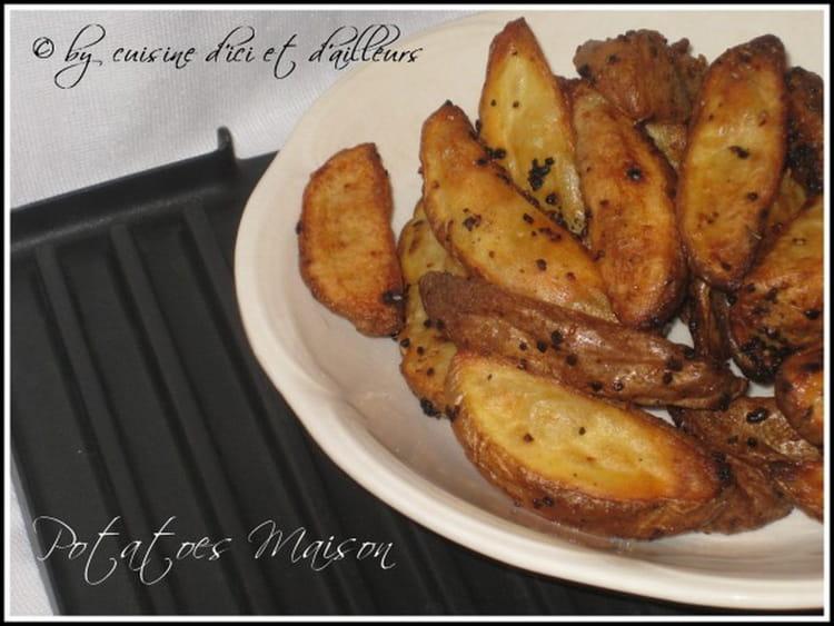 Potatoes maison cuites au four