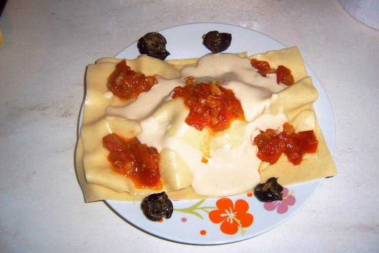 Lasagnes d'escargot à la crème d'ail