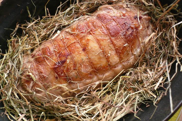 Épaule d'agneau au foin