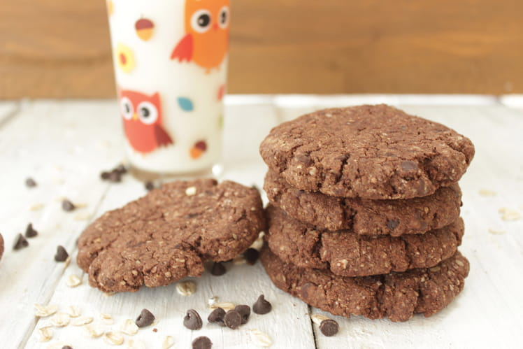 Cookies tout choco, céréales et beurre de cacao