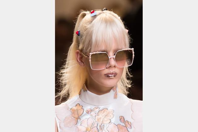 Les lunettes de soleil du défilé Fendi