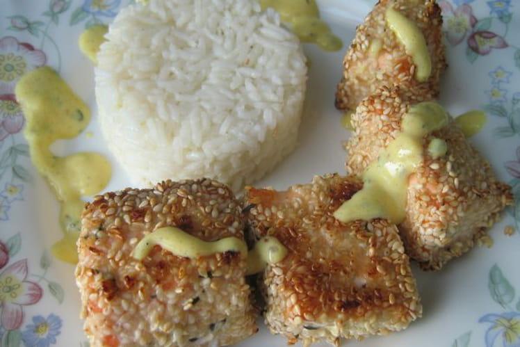 Croustillant de saumon au sésame