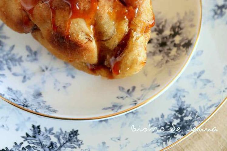 Brioche roulée au pommes et caramel sans sucre ajouté