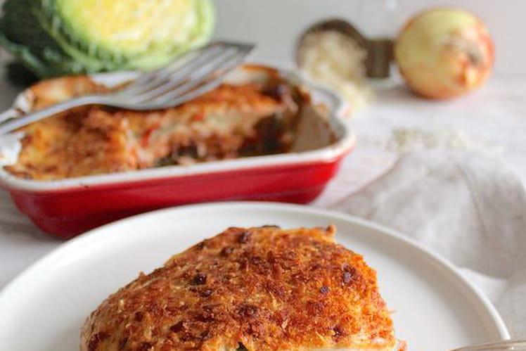 Lasagnes végétariennes de chou frisé sans gluten, avec option vegan