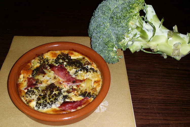 Clafoutis brocoli et jambon blanc