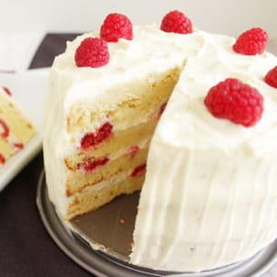 layer cake framboise-chocolat blanc