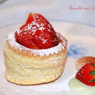 bouchées aux fraises