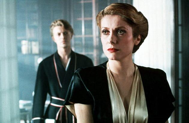Avec Catherine Deneuve dans Hunger, 1983