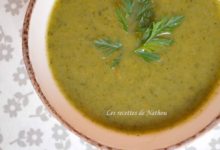 Recette de potage aux fanes de carottes la recette facile - Cuisiner fanes de carottes ...