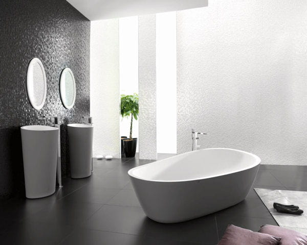 baignoire almond de porcelanosa. Black Bedroom Furniture Sets. Home Design Ideas