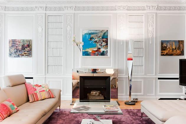 Grand appart classique et contemporain : salon