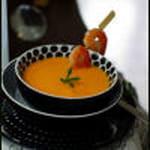 veloute de courge au lait de coco citronnelle et gingembre
