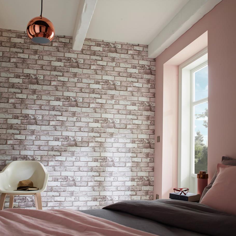 un papier peint trompe l 39 oeil quel papier peint pour ma chambre journal des femmes. Black Bedroom Furniture Sets. Home Design Ideas