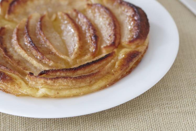 Tartelette aux pommes, cacao et cannelle